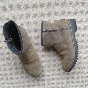 Sorel Meadow Zip Boots Suede Waterproof Size 7